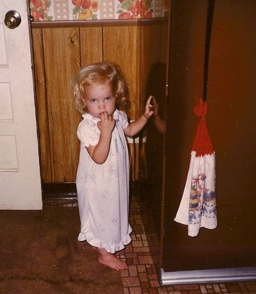 Me, in the 80's, at the fridge obviously!