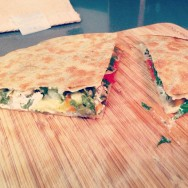 Veggie Brown Rice Quesadilla