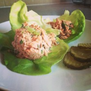 Salmon Salad on Lettuce Cups