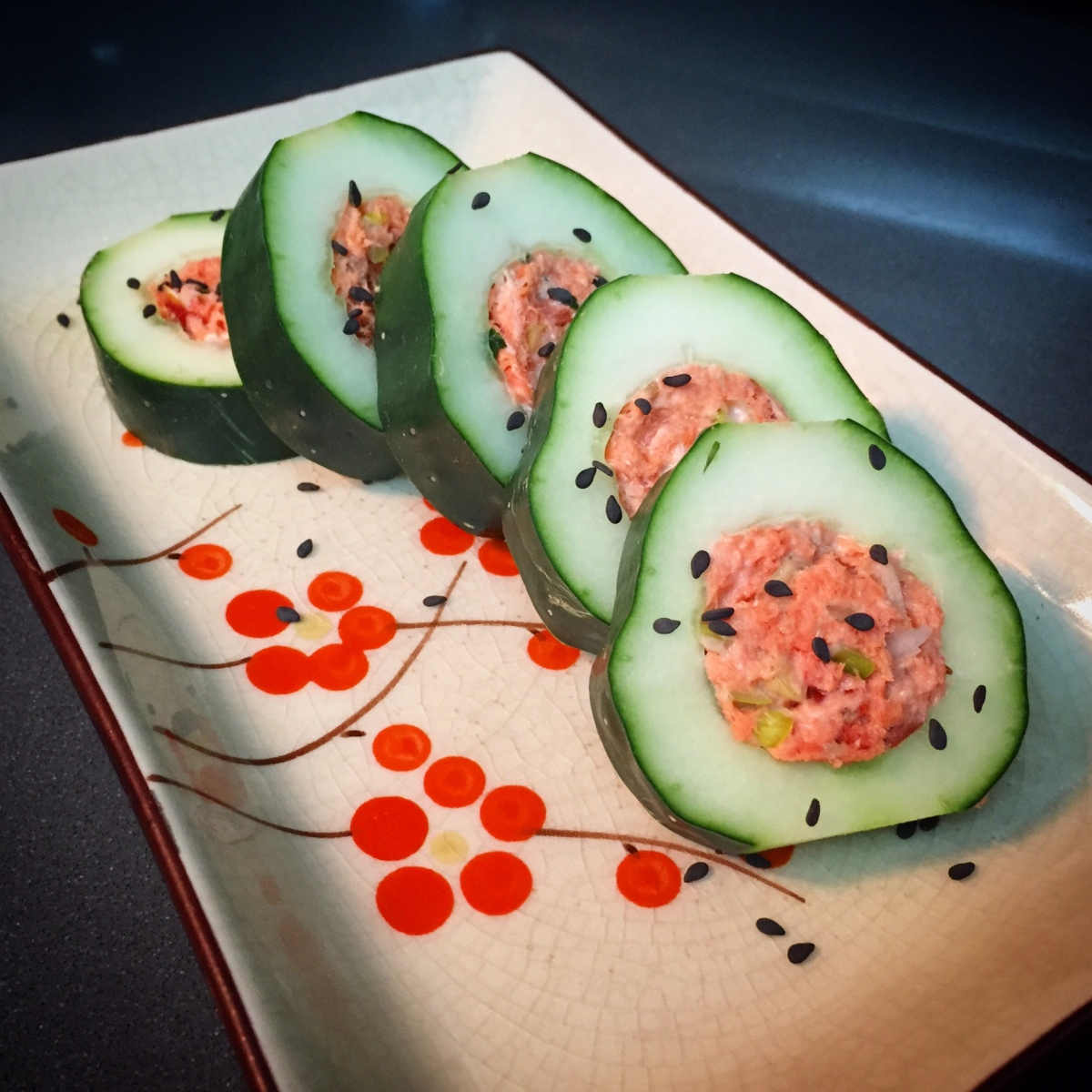 Easy Cucumber Salmon Rolls