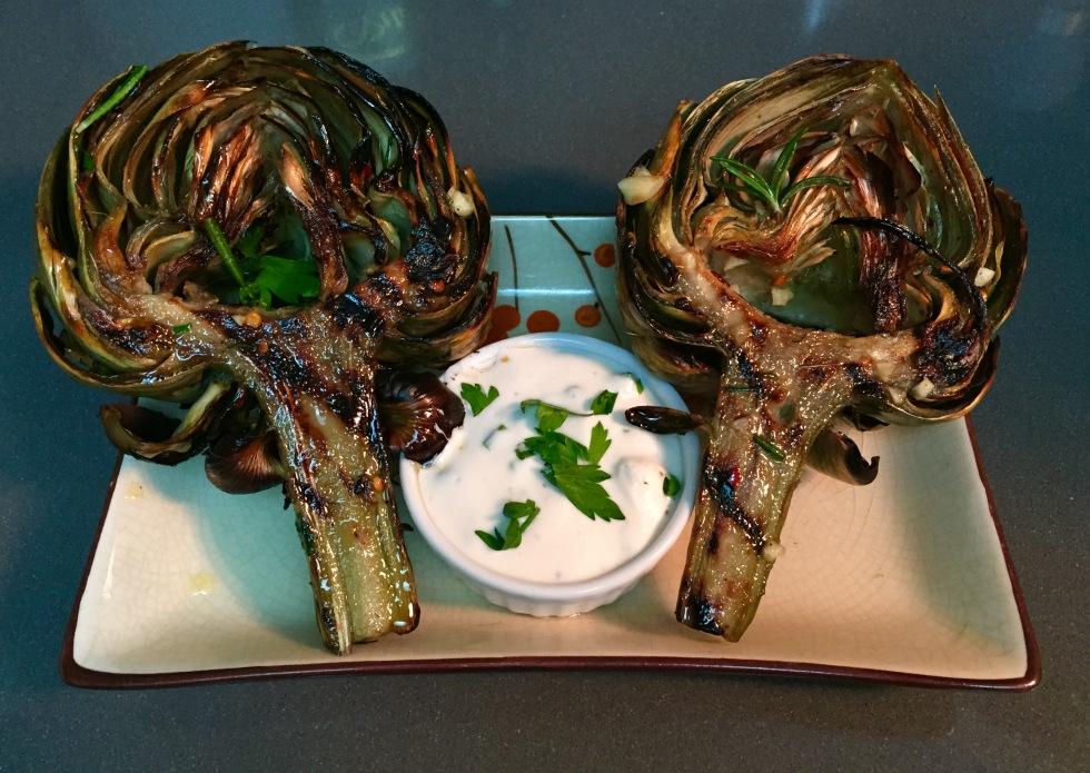 Grilled Artichoke & Aioli